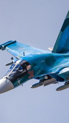 Sukhoi Su-34, fighter aircraft, Russian army, Russian air force