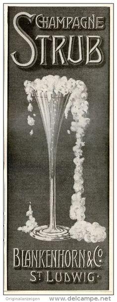 Original-Werbung/Inserat/ Anzeige 1905 - STRUB CHAMPAGNE/BLANKENHORN & CO. ST.LUDWIG - ca. 90 X 250 mm