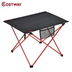 COSTWAY Outdoor Ultra-light Aluminum Alloy Portable Folding Table Picnic Table Tea Table Camping Barbecue Square Table OT0100 #Affiliate