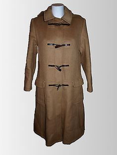 VTG 1970's Camel Duffle Coat - Size 14 - True Vintage - perfect for winter warmth! You'll be snug as a bug in a rug in this retro gem!
