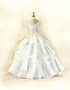 original bridal watercolor painting wedding by christydekoning 733cf07caab