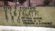 Muro na 23 de Maio é pichado com recado para João Doria