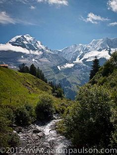 Trail to Rotstothutte from Murren, Swiss Alps  Seen them from an airplane....wanting to walk among them!!