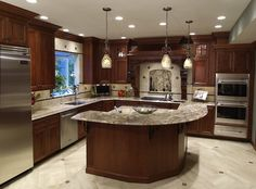 Classic Kitchen Design On The Main Line Right Outside Of Philadelphia.  Custom Cherry Cabinets And