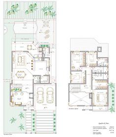Sobrado 4 Quartos - 194.77m² Craftsman Floor Plans, Modern Floor Plans, Contemporary House Plans, Modern House Plans, Small House Plans, Bungalow House Plans, House Floor Plans, Duplex Plans, Architectural House Plans