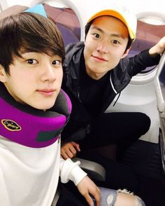 Jin and Gongmyung ❤ Law of The Jungle! Jungkook Jeon, Bts Jin, Korean Celebrities, Korean Actors, Korean Dramas, Celebs, Kdrama, Gong Myung, Law Of The Jungle