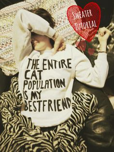The Entire Cat Population Is My Best Friend DIY Sweatshirt Tutorial #picmonkey
