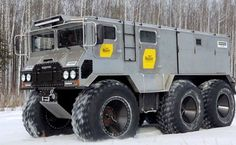 Russian Burlak 6x6 Off-Road Arctic Vehicle