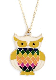 Read Owl About It Necklace, @ModCloth