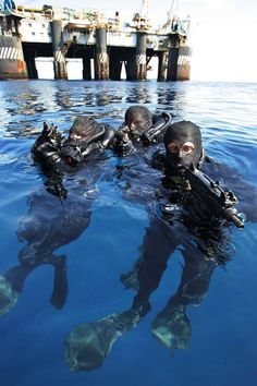 Navy Special Forces combat divers.