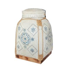 Blue and White Decorative Thai Rice Basket Box. by SiamSawadee, $99.99