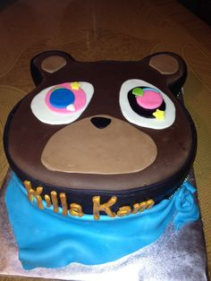 Kanye west bear cake