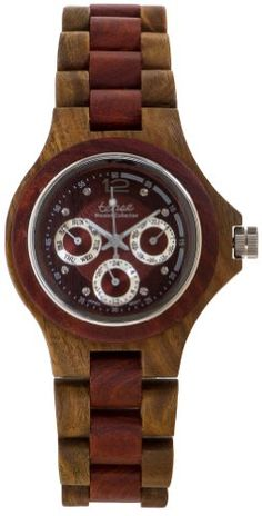 US STORE The Tense Wooden Watch - Northwest Collection, Multi-Function series features calendar date, days of the week, 24 hr display and luminescent hands.