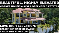Ayala Greenfield Estates House for Sale - A Highly Elevated Corner House is in the market! Garden Spaces, Balcony Garden, Mahogany Flooring, Tagaytay, Function Room, Corner House, Site Visit, The Other Side, Backdrops
