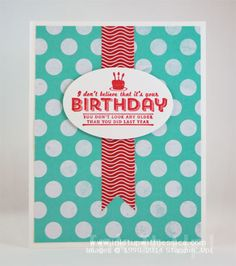 Birthday Card made with Stampin' Up! supplies: See Ya Later stamp set, Fresh Prints Designer Paper Stack