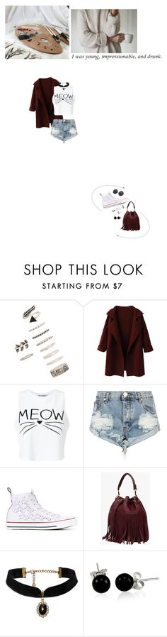 """Why'd you only call me when you're high?"" by flowy ❤ liked on Polyvore featuring Forever 21, WithChic, Miss Selfridge, One Teaspoon, Converse and Bling Jewelry"