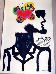 Evald Schorm Návrat ztraceného syna AKA The Return of the Prodigal Son Cuba Tourism, Pop Art, Cuban Art, Prodigal Son, Socialist Realism, Illustrations, Art Design, Graphic Art, Vintage Graphic