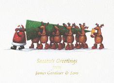 Bringing the Tree Front Personalised Christmas Cards Corporate Christmas Cards, Charity Christmas Cards, Personalised Christmas Cards, List Of Charities, Texture Board, Card Companies, Card Sizes, Reindeer, Digital Prints