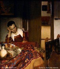 Jan Vermeer la jeune fille Endormie