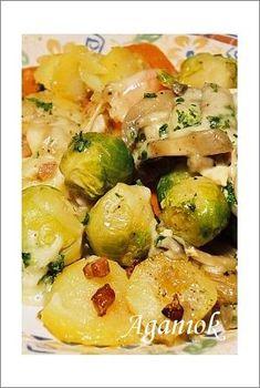Zapiekanka z brukselką i ziemniakami