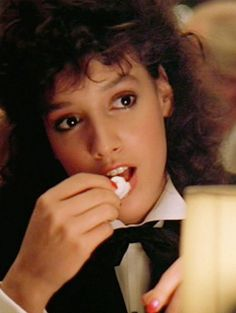 """Jennifer Beals in """"Flashdance"""" Paramount Pictures, 1983 Jennifer Beals, Divas, 20th Century Fashion, Actrices Hollywood, Celebs, Celebrities, Vintage Movies, Famous Faces, Pretty Woman"""