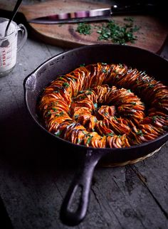 Crispy sweet potato roast with herbed coconut crème fraîche