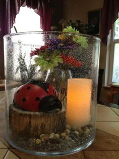 Lady bug fun!  New Lady Bug Votive holder and PartyLite LED in the Majestic Hurricane.  Great for Summer!!!  www.partylite.biz/nheizelman