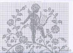 cross stitch angel monochrome