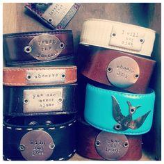 Farmgirl Paints Leather Cuffs - Farmgirl Paints Etsy Shop