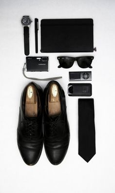 black, mens accessories