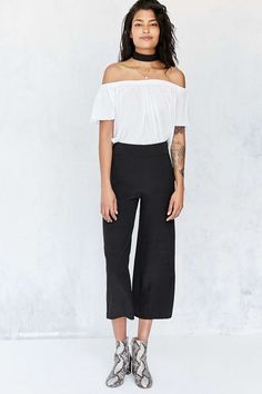 Ecote Lila Crop Pull-on Pant - Urban Outfitters