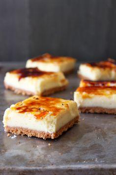 Creme Brulee Cheesecake Bars #recipe #dessert