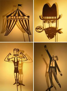 Shadow puppets by Su Owen.