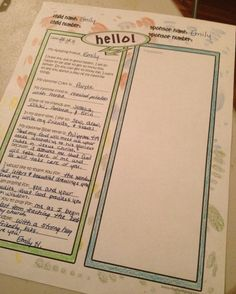 Snow themed letter template for @Compassion International sponsors ...