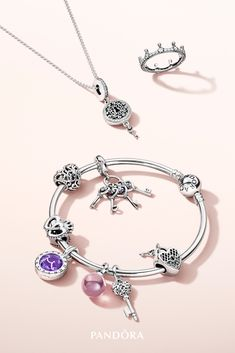 Let your unique and glamour style reign supreme with decadent new Pandora jewellery. Necklaces, bracelets and rings in our signature metals channel a regal feel with exquisite details and princess-worthy stones. Prom Jewelry, I Love Jewelry, Gothic Jewelry, Jewelery, Pandora Bracelet Charms, Pandora Jewelry, Charm Jewelry, Bracelet Designs, Or Rose