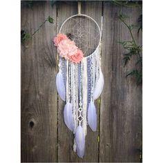 Custom Flower Dreamcatcher, Dream Catcher, Boho Bedroom decor, Nursery decor, Boho baby, Baby Shower Gift by InspiredSoulShop on Etsy https://www.etsy.com/listing/226948845/custom-flower-dreamcatcher-dream-catcher