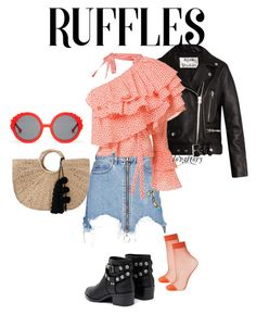 """""""Ruffles for spring"""" by lov3story on Polyvore featuring Mode, Acne Studios, Marcelo Burlon, Rosie Assoulin, Senso, Topshop, JADEtribe, Preen, contest und contestentry"""