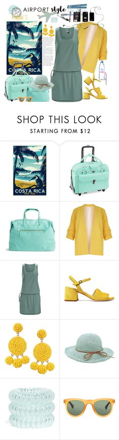 """""""Airportstyle"""" by marionmeyer ❤ liked on Polyvore featuring McKleinUSA, Vera Bradley, River Island, Arc'teryx, Humble Chic, Invisibobble, Dries Van Noten, Evian and airportstyle"""