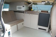 I like the open floor layout.  Bed disappears into seat (must be comfy, usuable day seat, however).