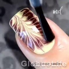 Bling Acrylic Nails, Simple Acrylic Nails, Simple Nails, Gel Nails, Nail Art Designs Videos, Best Nail Art Designs, Sponge Nail Art, Nail Art Courses, New Nail Art Design