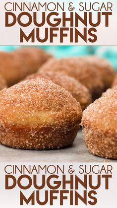 Donut muffins are a super soft homemade muffins that are easy to make These buttery treats taste just like an old fashioned donut rolled in cinnamon and sugar thesaltymarshmallow donuts doughnuts muffins breakfast dessert Donut Muffins, Coffee Cake Muffins, Lemon Muffins, Mini Muffins, Sugar Free Muffins, Snickerdoodle Muffins, Donut Cupcakes, Cake Mix Muffins, Baby Muffins
