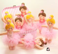 Graceful and beautiful ballerinas made with felt - ideas