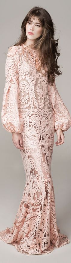 BoHo Beauty- Johanna Ortiz Spring Summer 2016 Look 7 on Moda Operandi Love Fashion, High Fashion, Womens Fashion, Beautiful Gowns, Beautiful Outfits, Lace Dress, Dress Up, Looks Style, Marchesa