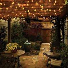 Here are outdoor lighting ideas for your yard to help you create the perfect nighttime entertaining space. outdoor lighting ideas, backyard lighting ideas, frontyard lighting ideas, diy lighting ideas, best for your garden and home Diy Patio, Backyard Patio, Backyard Landscaping, Backyard Ideas, Patio Ideas, Landscaping Ideas, Patio Roof, Desert Backyard, Backyard Shade