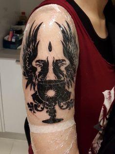 I got my Grey Warden tattoo today! - Imgur