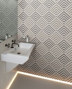 @appiani at Cersaie 2015 mosaic wall pattern