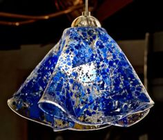 Fused Glass Pendant lights- Confetti sty Click for full image