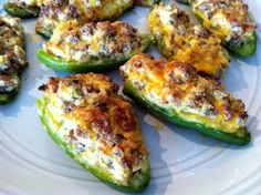 Sausage Stuffed Jalapeno Poppers these look so good!!