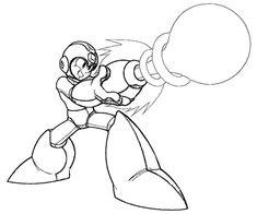 random mega man coloring pages mewarnai - Mega Man Printable Coloring Pages