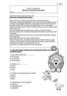 Afrikaans Comprehension Grade 8